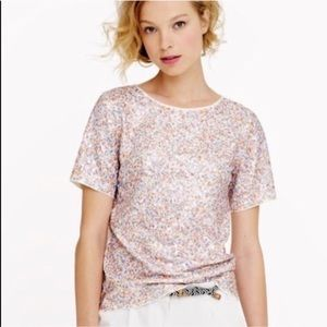 J.Crew Multicolored Sequin Top size medium